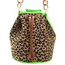 8624c67e2e351 Bolsa saco animal print 10296997. Cor Amarelo Caramelo Laranja Verde
