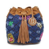 bce78102f7660 Bolsa Saco Jeans Com Patch Biro 10169900